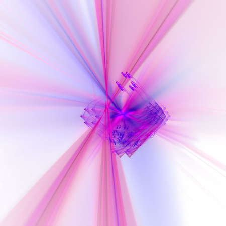 Abstract background. Blue - purple palette. Raster fractal graphics. photo