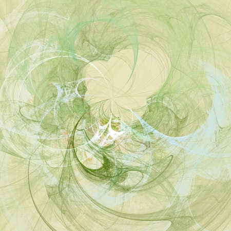 Abstract background. Yellow - green palette. Raster fractal graphics. photo