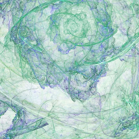 Abstract background. Green - blue palette. Raster fractal graphics. photo