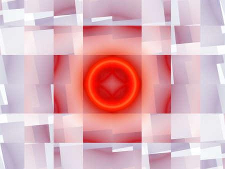 Abstract elegance background. Orange - white palette. Raster fractal graphics. Stock Photo - 5508808