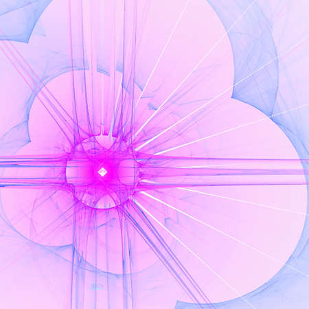 Abstract elegance background. Blue - purple palette. Raster fractal graphics. Stock Photo - 5508835