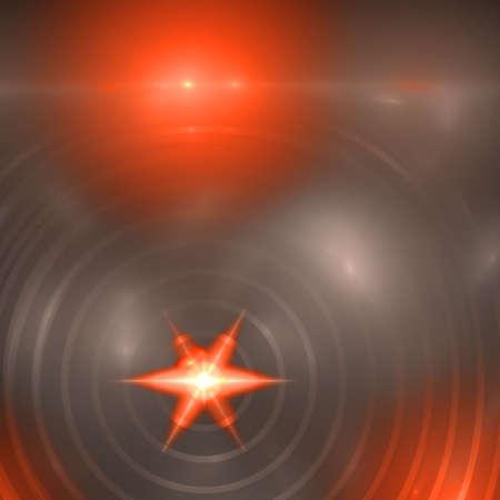 ring flash: Abstract elegance background. Orange - gray palette. Raster fractal graphics.