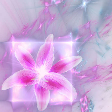 Abstract elegance background. Pink - purple palette. Combined raster fractal graphics and photo. photo