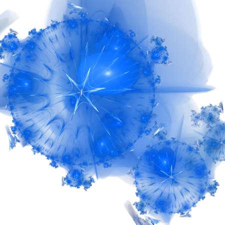 Abstract elegance background. Blue - white palette. Raster fractal graphics. Stock Photo - 5553474