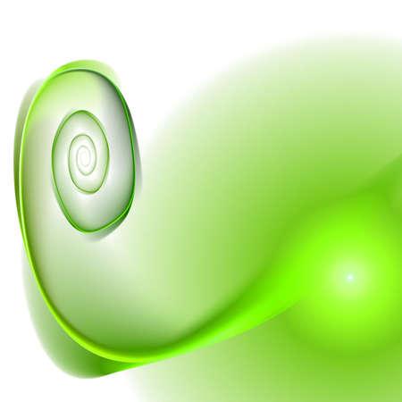 Abstract elegance background. Green - white palette. Raster fractal graphics.