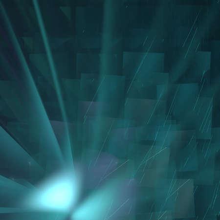 Abstract elegance background. Black - blue palette. Raster fractal graphics. photo