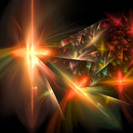 Abstract elegance background. Orange - black palette. Raster fractal graphics. Stock Photo - 5553428