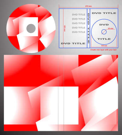 Abstract design template for dvd label and box-cover. Based on rendering of 3d fractal graphics. For using create new layer with your text. photo