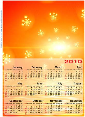 Abstract design template for 2010 calendar. Based on rendering of 3d fractal graphics. For using create new layer with your text and image. photo