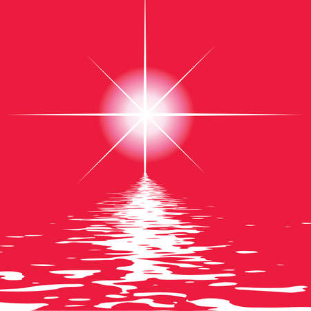 Abstract elegance background. Vector illustration. Star and  water. Vector