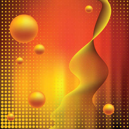 include: Abstract elegance background with balls. Vector illustration. Gradient mesh include.