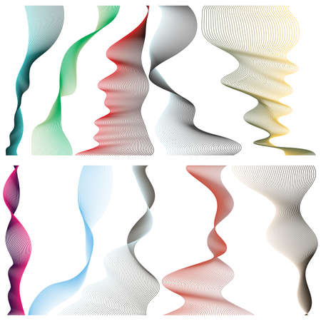 Set of linear banners for your design on white background. Vector illustration. Vector