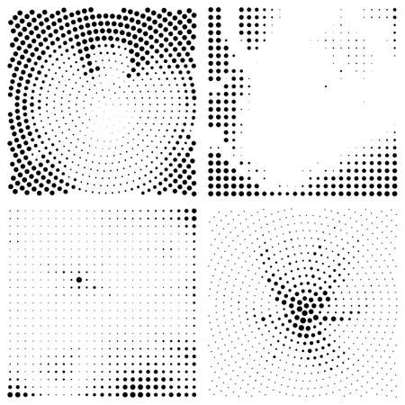 Set of abstract elegance backgrounds with dots. Vector illustration.