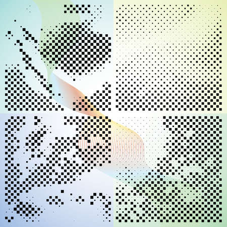 Set of abstract elegance gradient backgrounds with dots. Vector illustration. Stock Vector - 5849073
