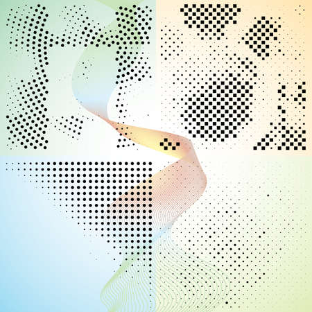 tones: Set of abstract elegance gradient backgrounds with dots. Vector illustration. Illustration