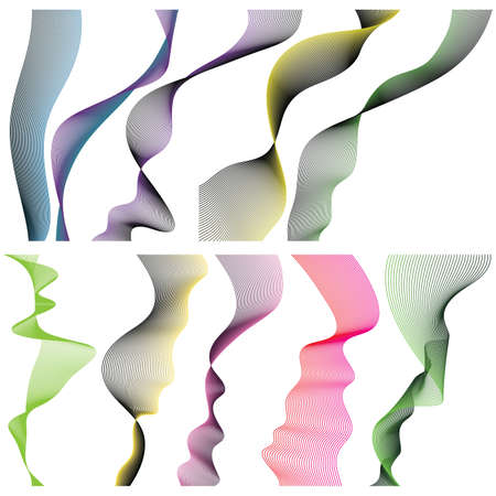 Set of linear banners for your design on white background. Vector illustration. Stock Vector - 5856703