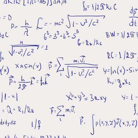 teorema: F�rmulas. Seamless abstracto. Ilustraci�n del vector.