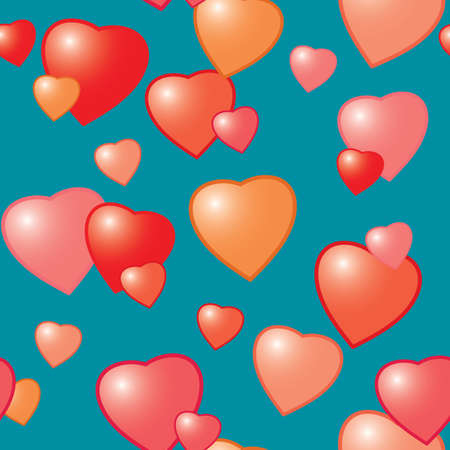 Valentine's day abstract seamless background with hearts. Vector illustration. Stock Vector - 6312463