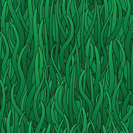 Abstract background of green grass. Seamless pattern. illustration. Illustration