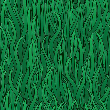 Abstrakcyjne tła zieloną trawę. Bez szwu deseń. ilustracji.