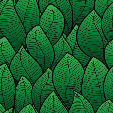 Abstract background of green leaf. Seamless pattern.  illustration. Stock Vector - 6649048