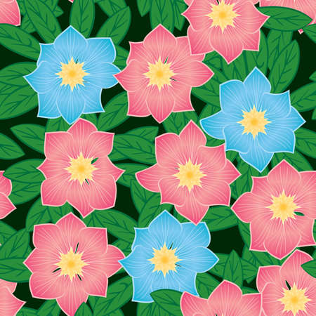 frame less: Abstract flowers background. Seamless pattern.  Illustration