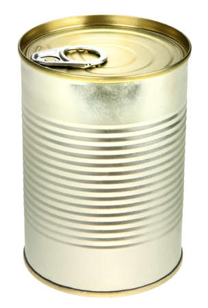 Single metal can. Close-up. Isolated on white background. Stock Photo - 6932866