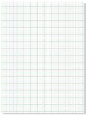 Background of blank paper sheet. illustration.