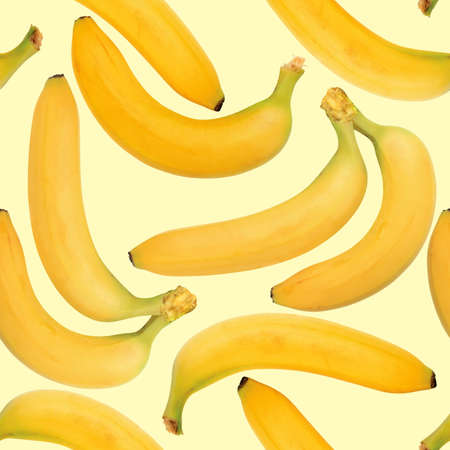 Abstract background of yellow bananas. Seamless pattern. Close-up. Stock Photo - 7112305