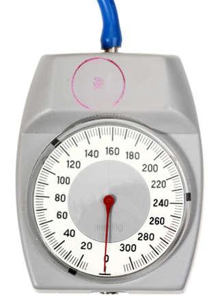 Single indicator for retro sphygmomanometer. Isolated on white background.  photo