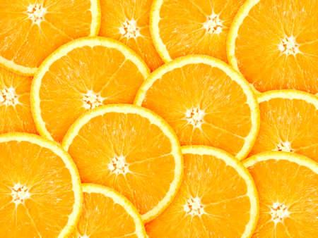 Abstracte achtergrond met citrus-fruit van oranje segmenten. Close-up. Studio fotografie.