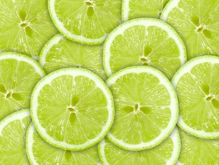 lima limon: Fondo verde abstracto con c�tricos de rodajas de Lima. Close-up.