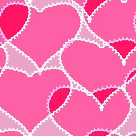 Valentine's day pink abstract background with transparent hearts. Seamless pattern. Vector illustration. Stock Vector - 8489844