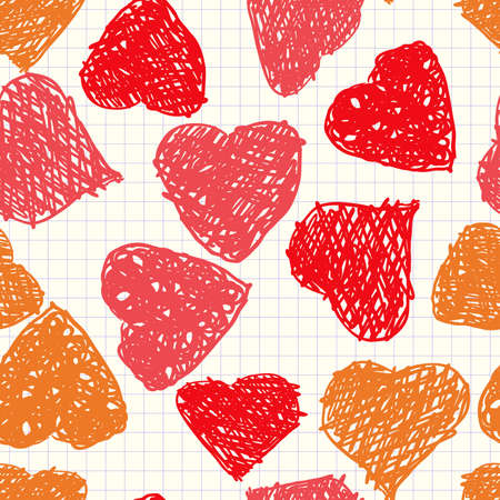 Valentine's day abstract background with hearts as picture of baby. Seamless pattern. Vector illustration. Stock Vector - 8497958