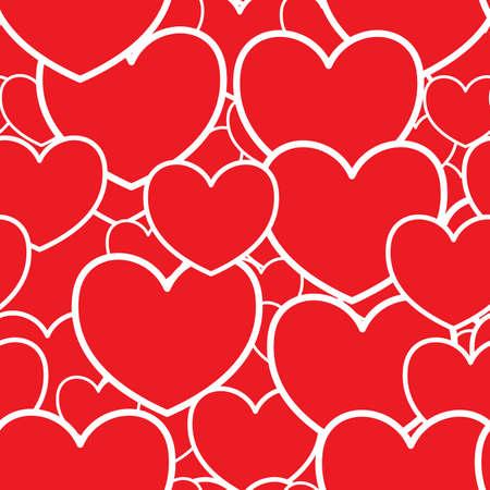 D�a de San Valent�n del fondo rojo abstracto con corazones. Patr�n transparente. Ilustraci�n vectorial. Foto de archivo - 8499909