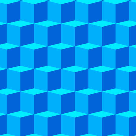 repetition: Abstract background with blue 3d cubes. Seamless pattern.   illustration.