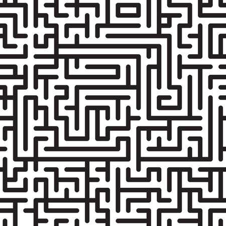 the maze: Fondo abstracto en blanco y negro con complejo laberinto. Patr�n sin problemas.   ilustraci�n.
