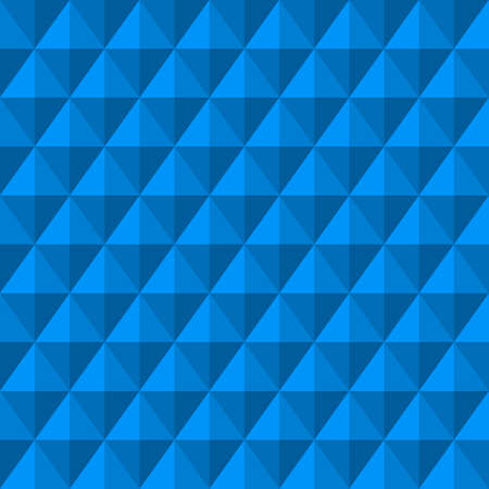 Abstract Background with 3d blue Diamonds. Seamless Pattern.   Illustration.