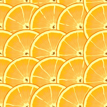 limon: Abstract background with citrus-fruit of orange slices. Seamless pattern.  illustration. Illustration