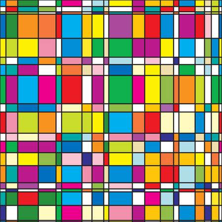 Abstract Background with motley quadratischen Fliesen. Seamless Pattern.  Illustration.