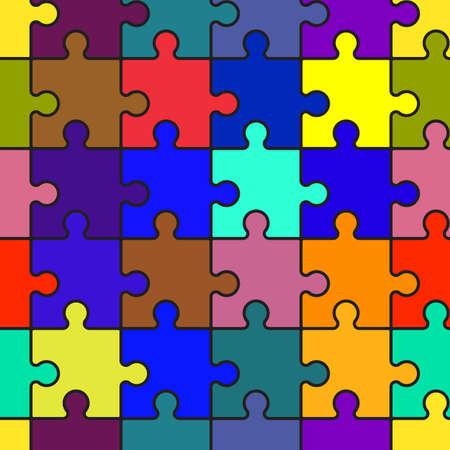 Motley sfondo astratto con puzzle. Modello di perfetta per il vostro disegno. Illustrazione vettoriale.