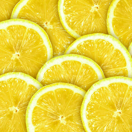 Abstract background with citrus-fruit of lemon slices. Close-up. Studio photography. Stock Photo