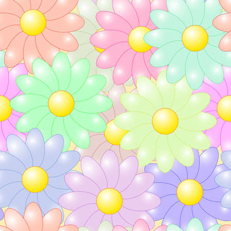 frame less: Abstract flowers colorful background. Seamless pattern. Vector illustration. Illustration