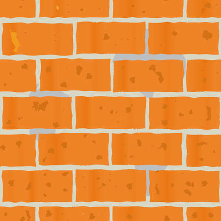 Abstract background as wall of red bricks for your design. Seamless pattern. Vector illustration.  Illustration