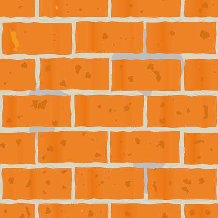 paredes de ladrillos: Resumen de fondo como la pared de ladrillos rojos para su diseño. Patrón sin fisuras. Ilustración del vector. Vectores