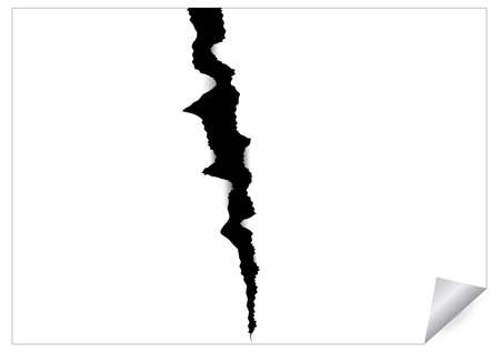 break joints: Abstract image of paper sheet with black ragged crack for your design. Vector illustration. Illustration