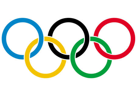 Olympics rings - symbol of Olympic games  Isolated on white background  Vector illustration