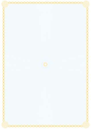yellow pages: Blank form for a certificate with abstract calligraphic border for your design  Vector illustration