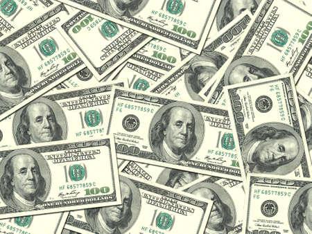 cash money: Resumen de fondo de dinero se acumulan 100 d�lares USA proyectos de ley para su dise�o. Fotograf�a de estudio. Foto de archivo
