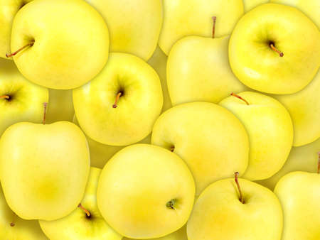 Abstract background of heap fresh yellow apple. Close-up. Studio photography. photo